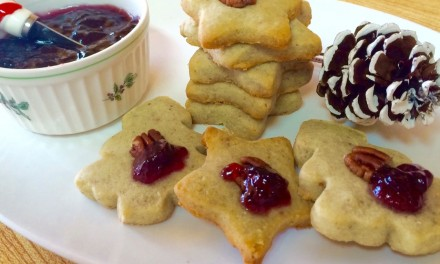 Stilton Shortbread With Port Wine Jelly