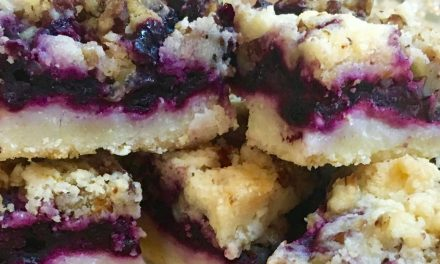 Blueberry Lime Shortbread Squares