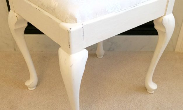 Vintage Queen Anne Upholstered Bench