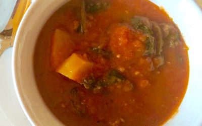 Tomato And Sausage With Spinach Soup