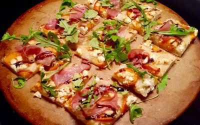 Apricot Prosciutto Flatbread With Balsamic Drizzle