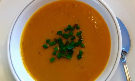 Sweet Potato And Aged Cheddar Soup