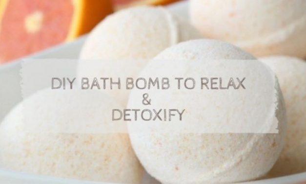 DIY Bath Bomb To Relax & Detoxify