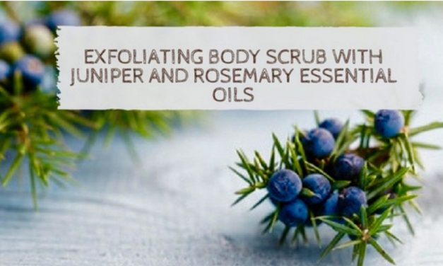 Exfoliating Body Scrub With Juniper & Rosemary Essential Oils