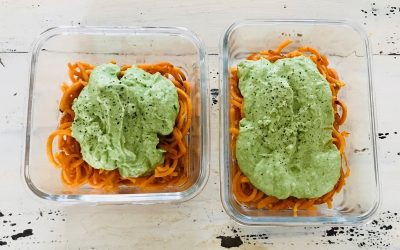 Sweet Potato Noodles With Avocado Pesto