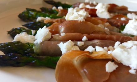 Prosciutto Wrapped Asparagus With Feta