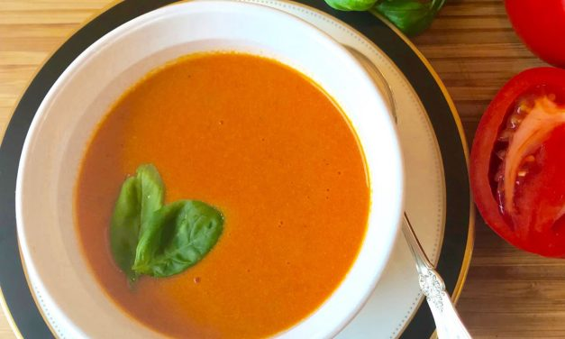 Deliciously Rich Tomato And Basil Soup