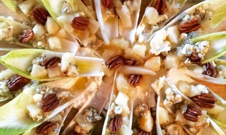 Endive Spears With Stilton Cheese, Toasted Pecans And Sauteed Pears