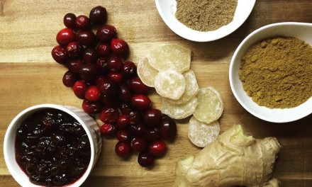 Cranberry And Ginger Sauce With Pinot Noir