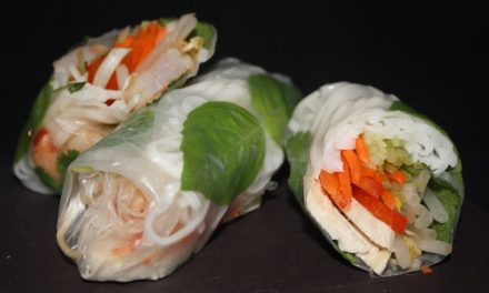 Cold Rice Paper Spring Rolls With Peanut Sauce