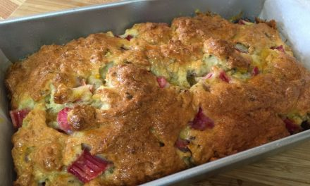 Rhubarb And Pistachio Loaf