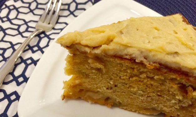 Gluten Free Apple Raisin Cake With Pecans