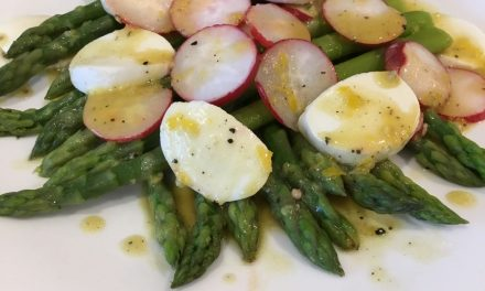A Spring Salad Of Asparagus, Radish & Bocconcini